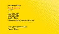 Bright Yellow Gradient Business Card Template